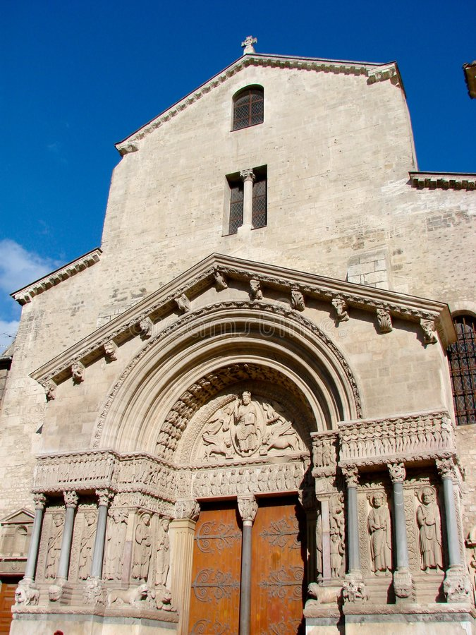 Saint Trophime in Arles royalty free stock photos