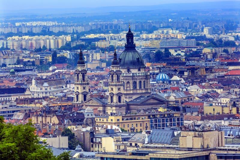 Saint urbain Stephens Cathedral Budapest Hungary de paysage urbain images libres de droits