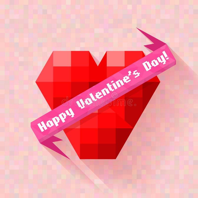 Saint Valentin abstrait de bannière de coeur illustration stock