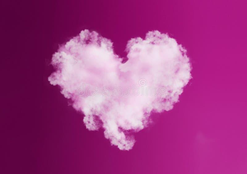 Saint Valentin d'amour de coeur de nuage photos libres de droits