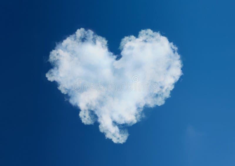 Saint Valentin d'amour de coeur de nuage images libres de droits