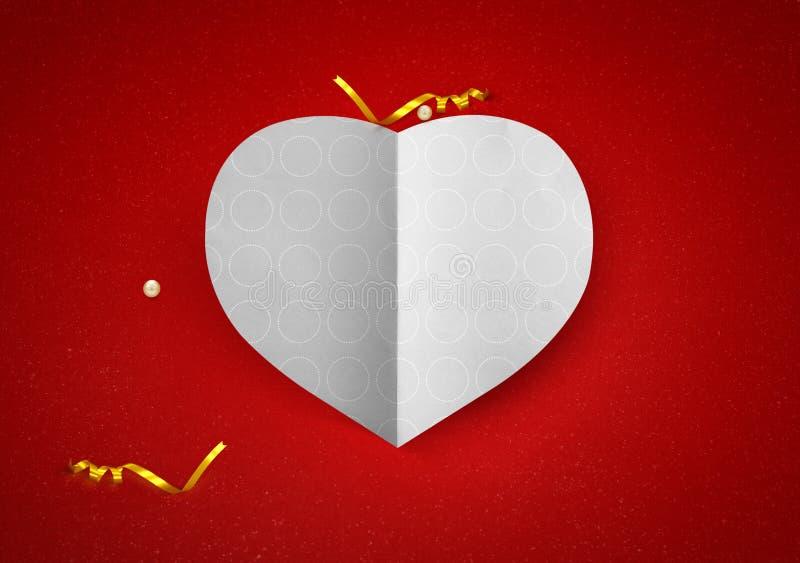 Saint Valentin d'amour de forme de coeur image stock