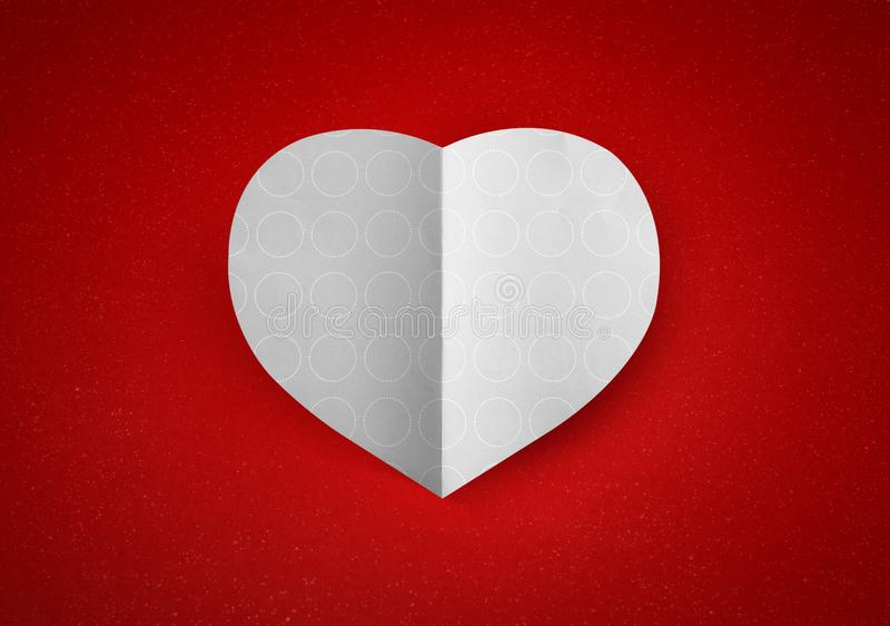 Saint Valentin d'amour de forme de coeur photo libre de droits