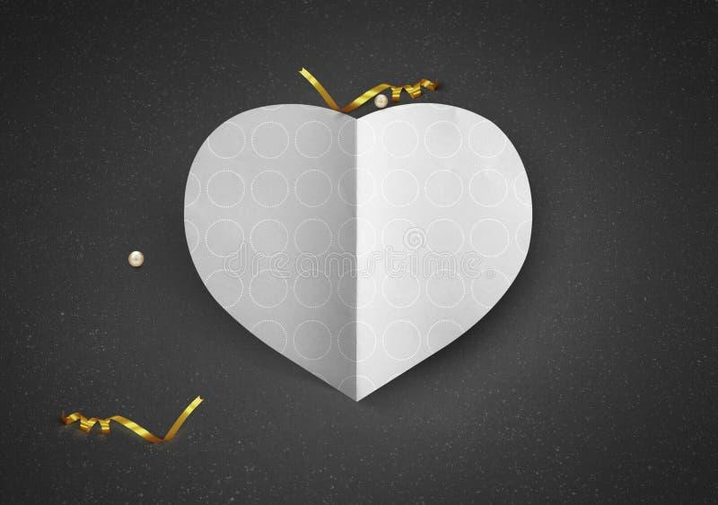 Saint Valentin d'amour de forme de coeur image libre de droits
