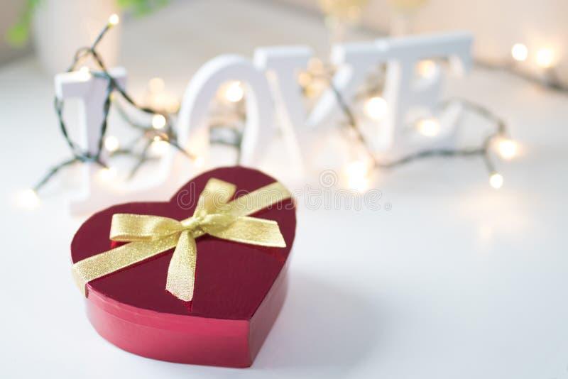 Saint-Valentin en forme de coeur images stock