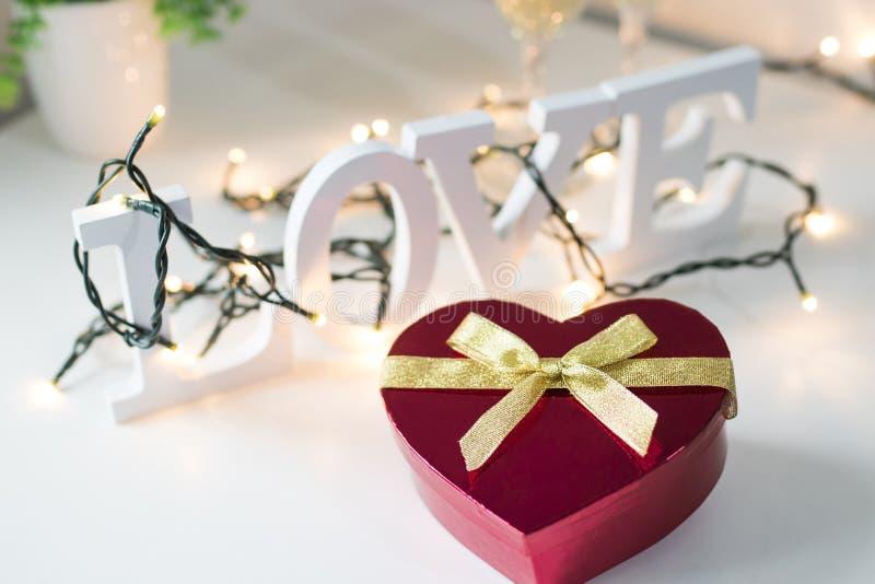 Saint-Valentin en forme de coeur photo stock