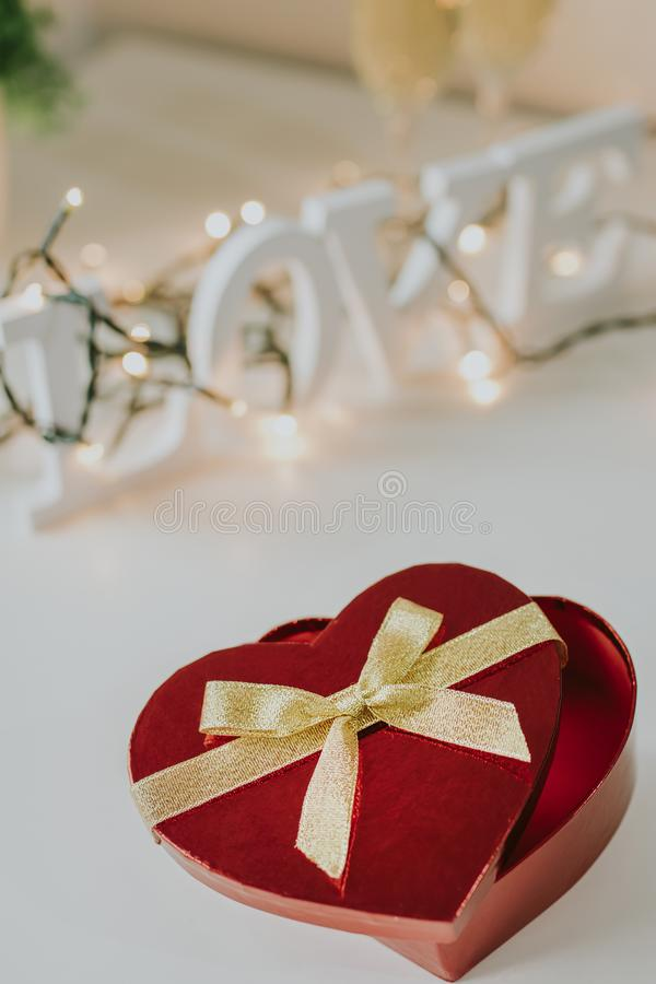 Saint-Valentin en forme de coeur photos stock