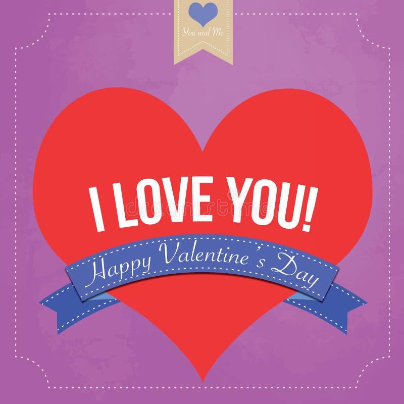 Saint-Valentin heureuse illustration libre de droits