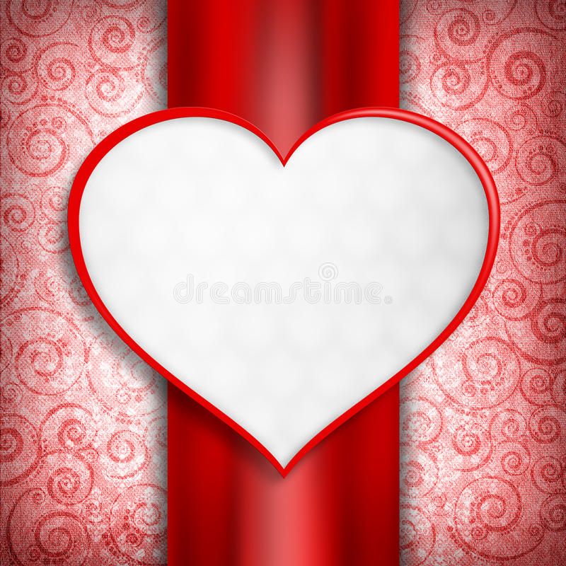 Saint-Valentin heureuse - calibre de carte illustration de vecteur