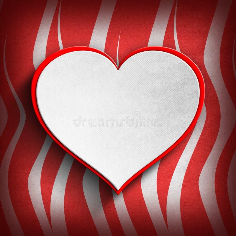Saint-Valentin heureuse - calibre de carte de voeux illustration stock