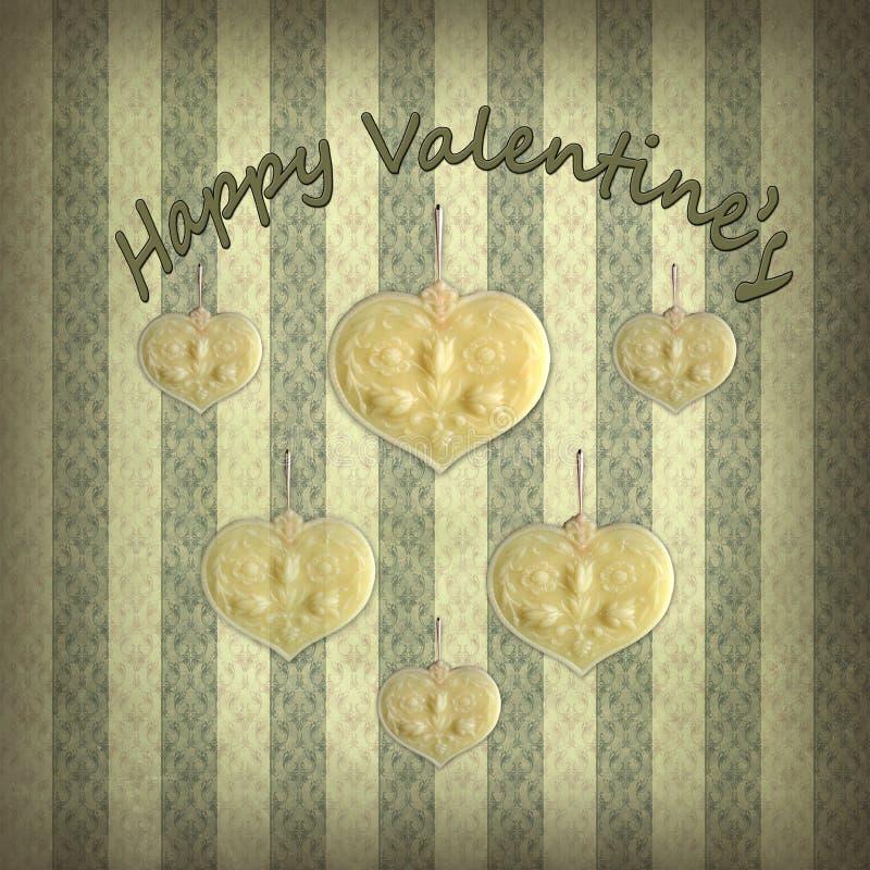Saint-Valentin heureuse, cru et romantique photo stock