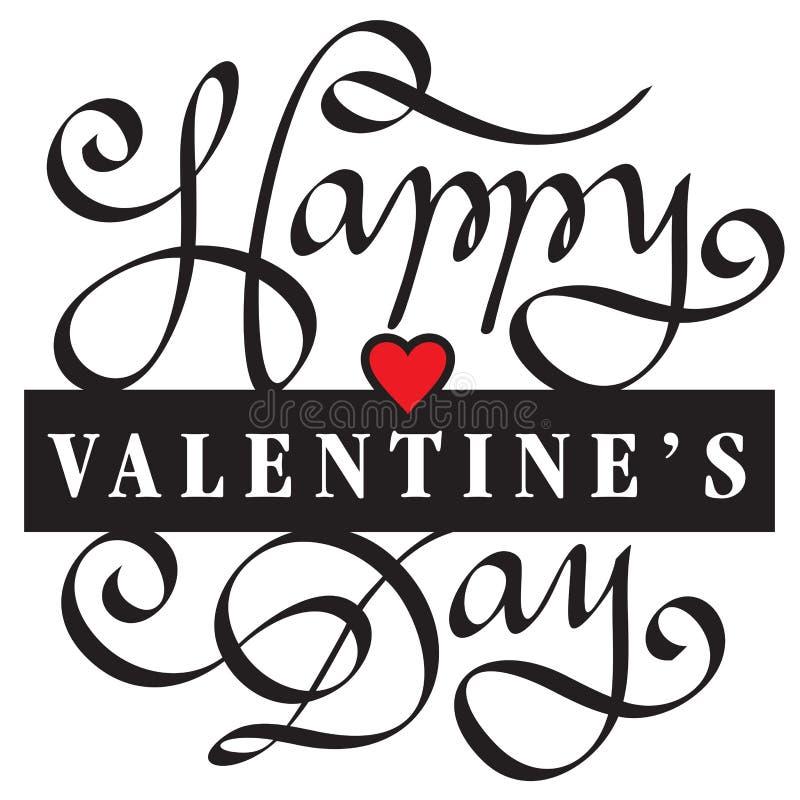 Saint Valentin heureux illustration de vecteur