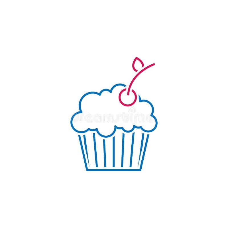 Saint-Valentin, icône de gâteau Peut être employé pour le Web, logo, l'appli mobile, UI, UX illustration libre de droits