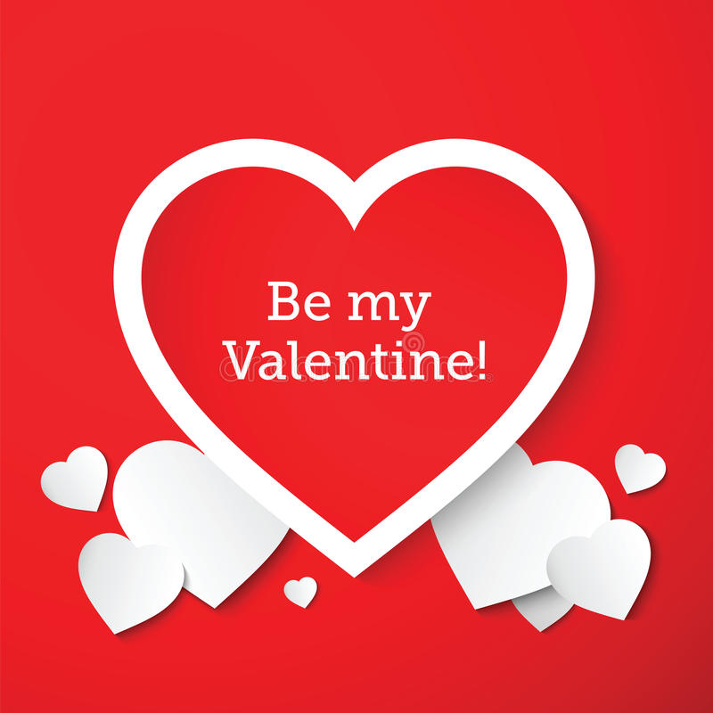 Saint Valentine Abstract Vetora Hearts Card ou ilustração royalty free