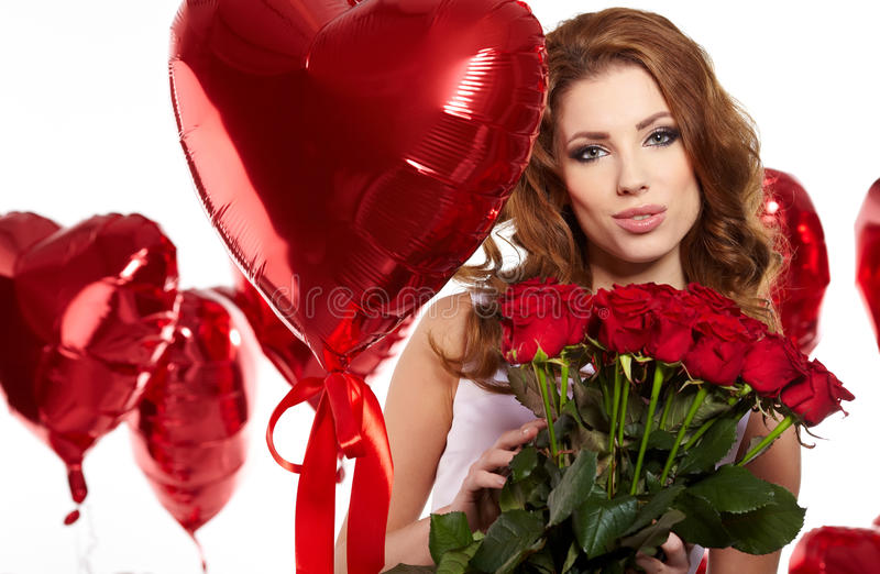 Download Saint Valentine day stock photo. Image of cute, brunette - 28763894
