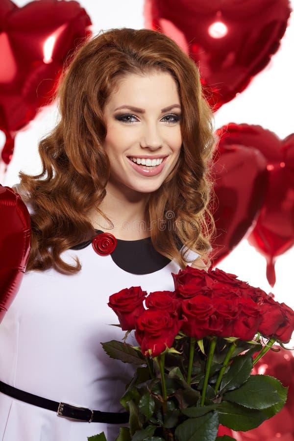 Download Saint Valentine day stock image. Image of brunette, shiny - 28763957