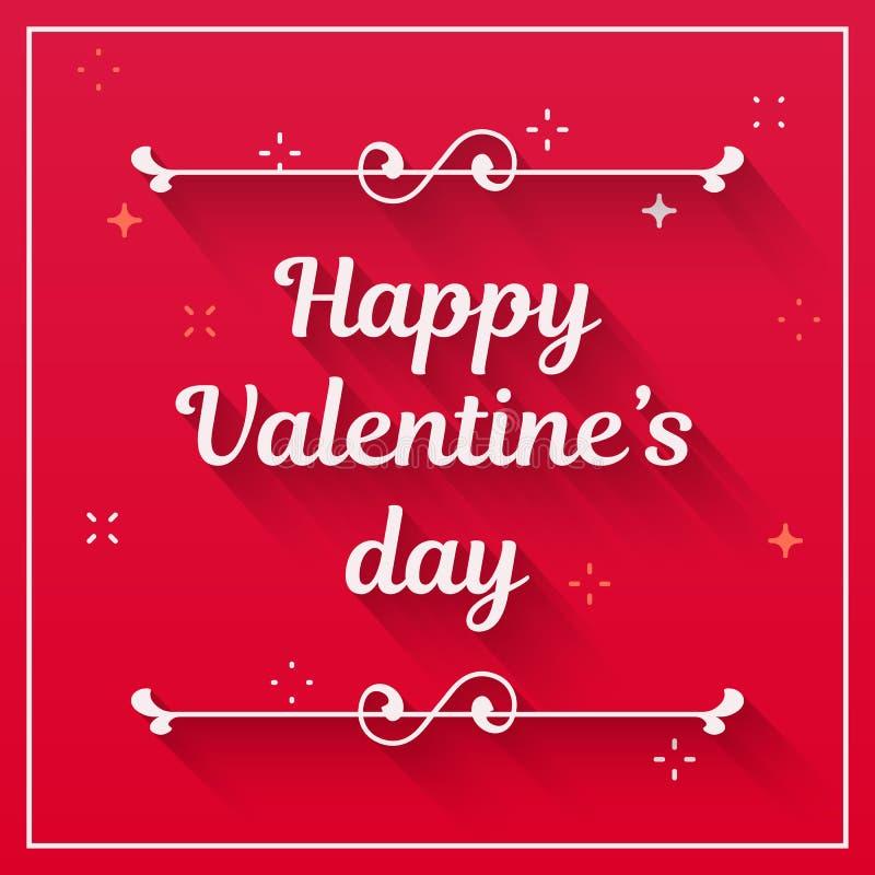 Saint Valentine Design Text Happy Valentines Day Vector