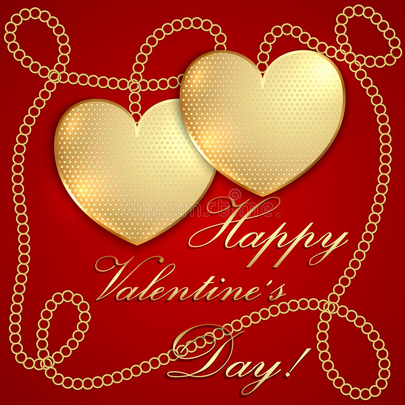 Saint Valentine Greeting Card de vecteur illustration stock