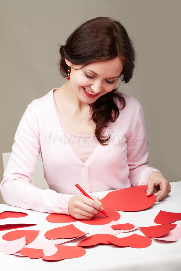 Download Saint Valentine�s day stock image. Image of holiday, girl - 18342149