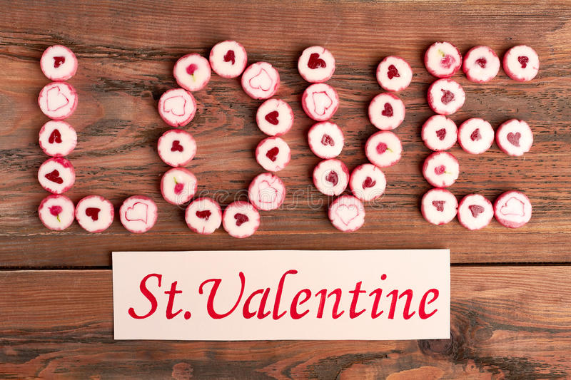 Saint Valentine`s Day greeting card. royalty free stock image