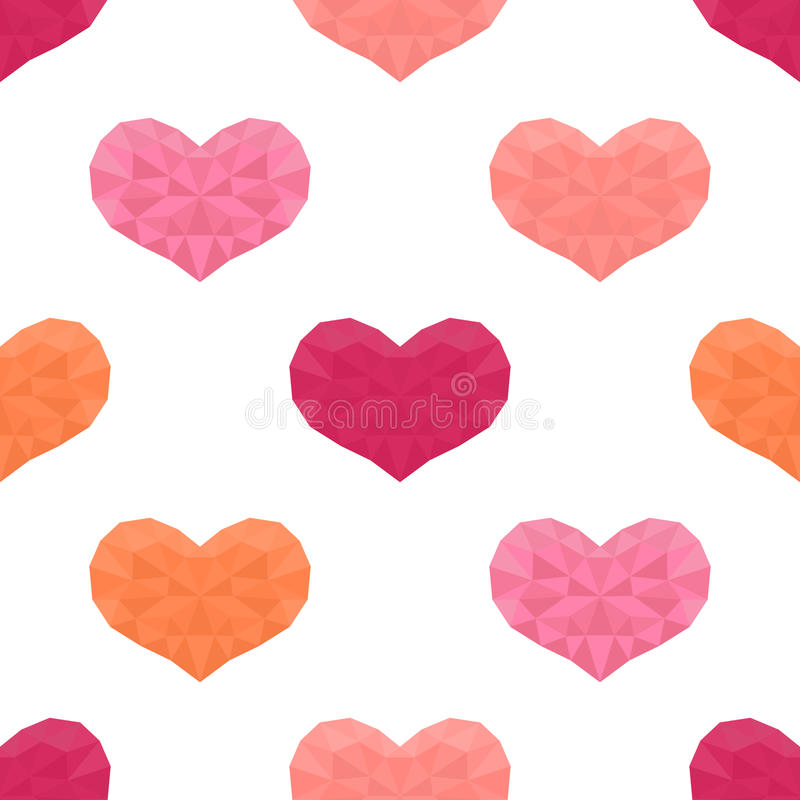 Saint Valentines day seamless pattern. Background with hearts. royalty free illustration