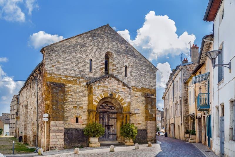 Saint Valerien Church, Tournus, Frankrijk stock afbeeldingen