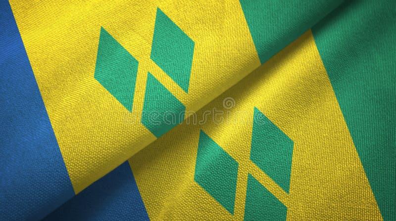 Saint-Vincent-et-les-Grenadines et Saint-Vincent-et-les-Grenadines deux drapeaux illustration libre de droits