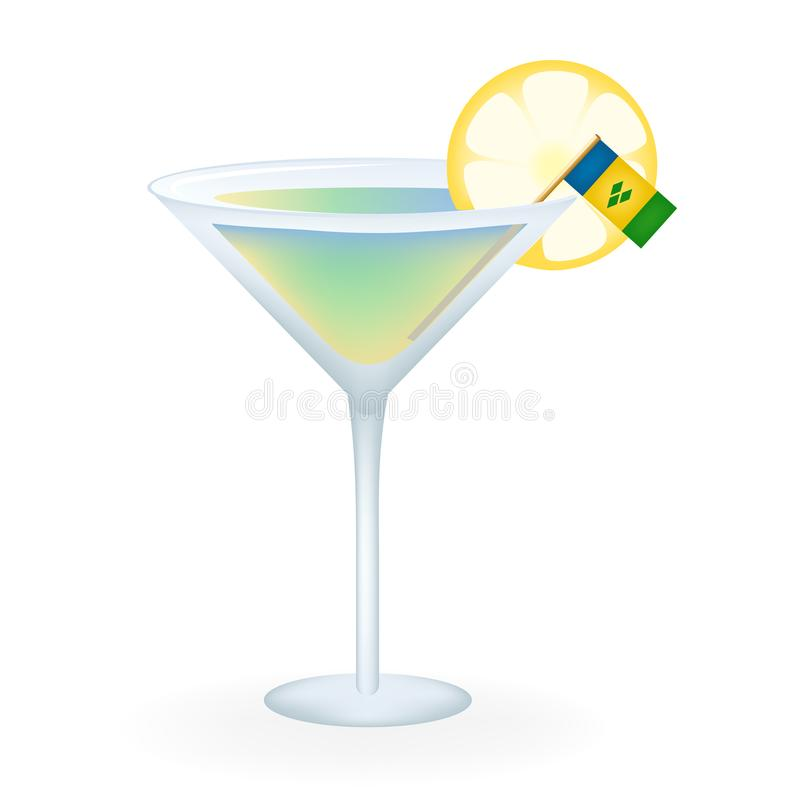 Saint Vincent And The Grenadines Cocktail illustration libre de droits