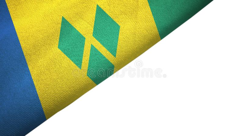 Saint Vincent and the Grenadines flag left side with blank copy space vector illustration