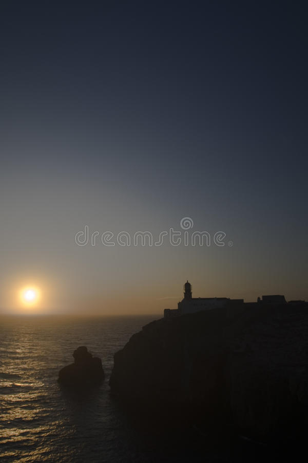 Saint Vincent's cape at Sagres royalty free stock photos