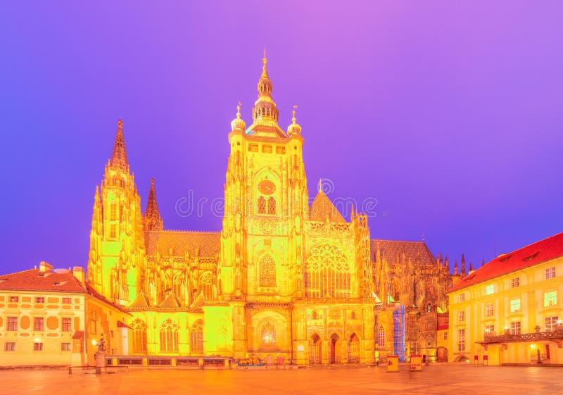 Saint Vitus Cathedral in Prague, Czech Republic stock photos