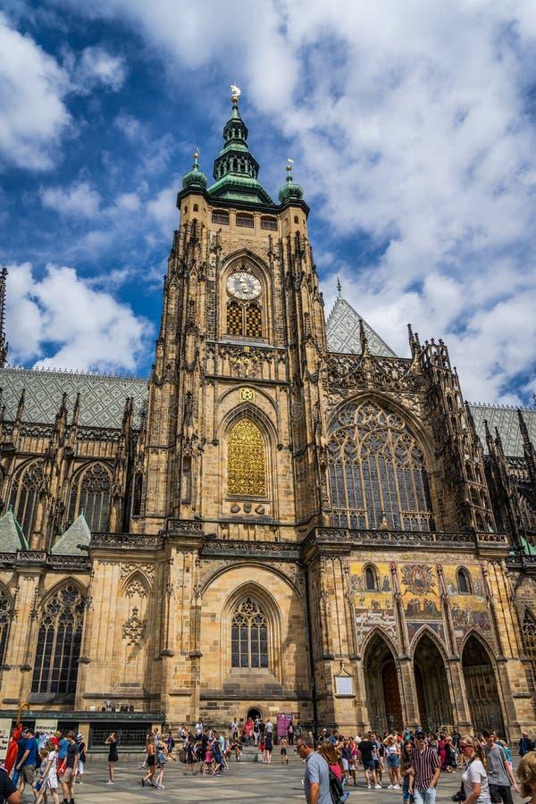 Saint Vitus Cathedral Prague in Czech Republic stock photos