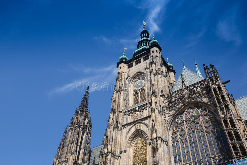 Saint Vitus Cathedral in Prague royalty free stock photos