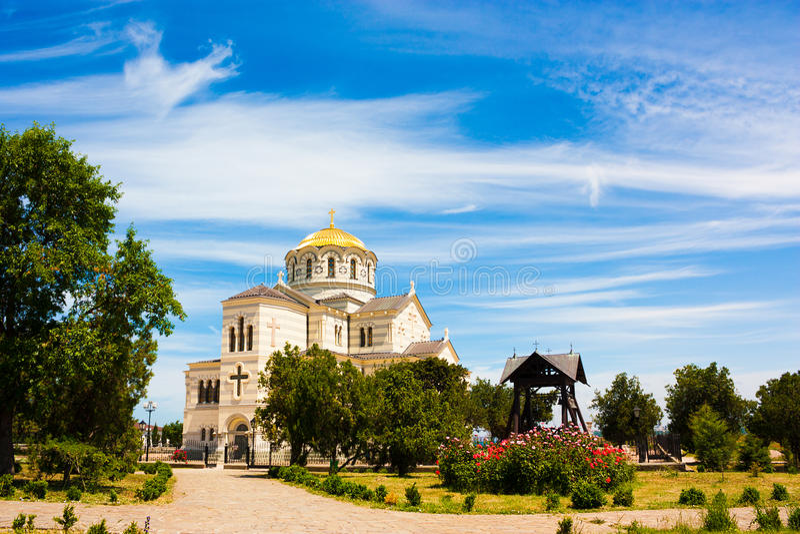 Saint Vladimir Cathedral in Chersonesus, Crimea royalty free stock photo