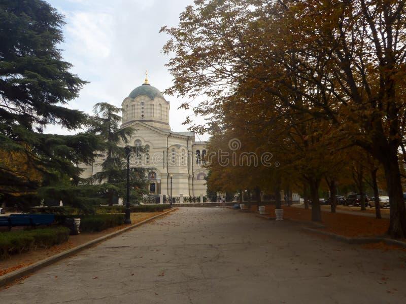 Saint Vladimir Cathedral in Sevastopol, Crimea stock photo