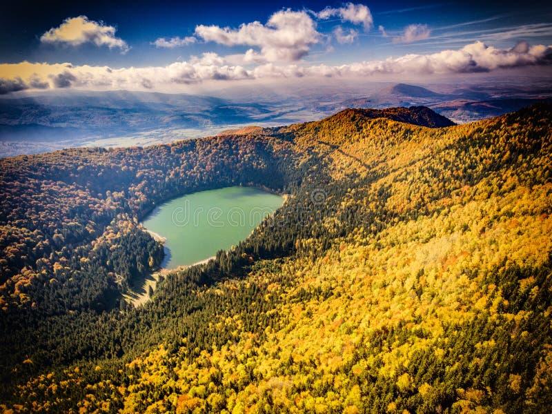 Saint vulcânico Ana do lago na Transilvânia Romênia imagem de stock royalty free