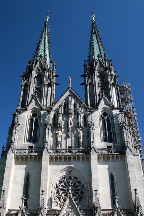 Saint Wenceslas Cathedral Olomouc, Czech Republic royalty free stock photos