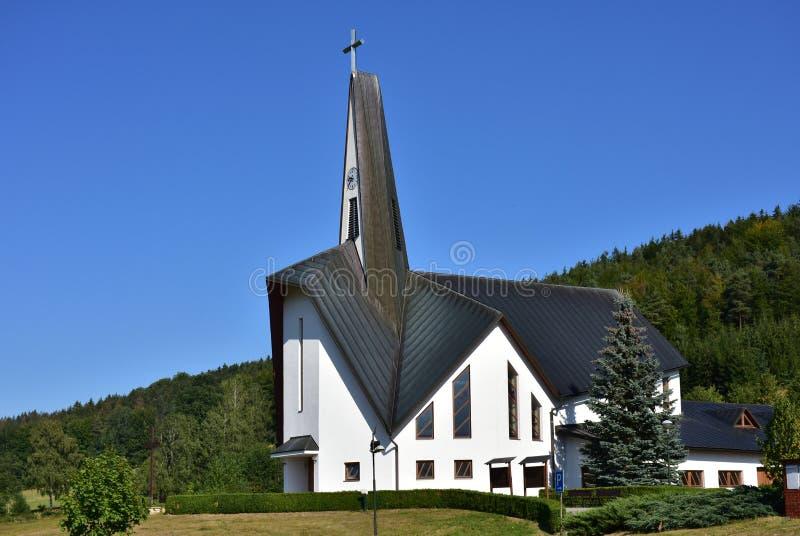 Saint Zdislava da igreja em Prostrednà Becva imagens de stock royalty free