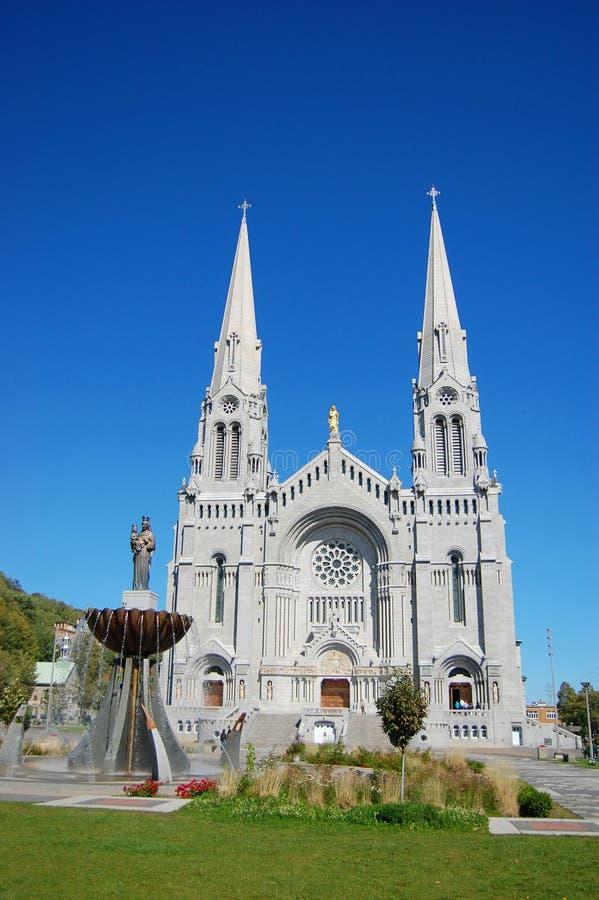 Sainte安妮deBeaupre,魁北克大教堂  免版税库存照片