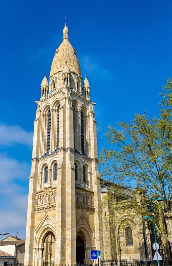 Sainte玛里de La Bastide教会在红葡萄酒,法国 免版税图库摄影