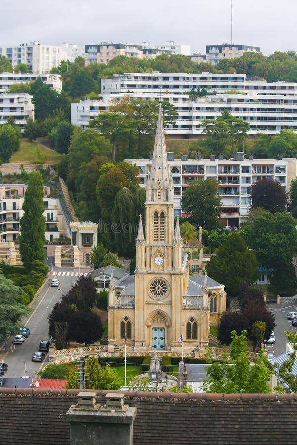 Sainte-Adresse, Sint-Deniskerk stock afbeeldingen