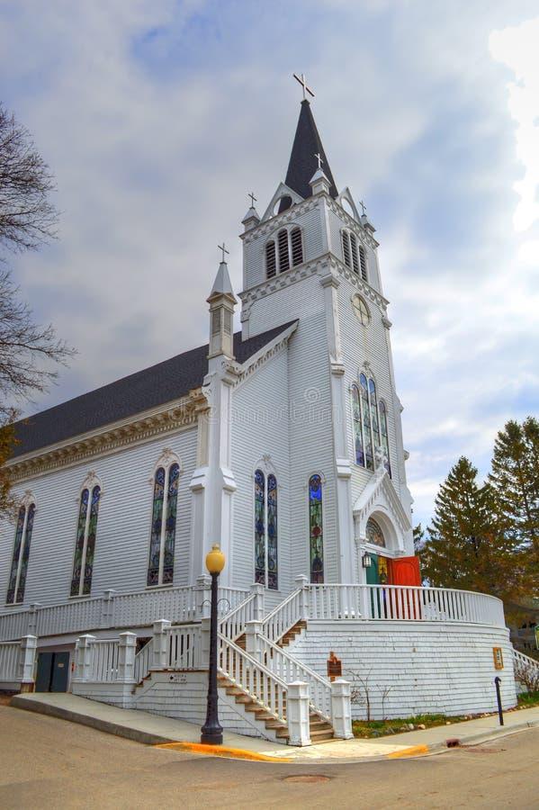 Sainte Anne Mackinac Kościelna wyspa fotografia royalty free