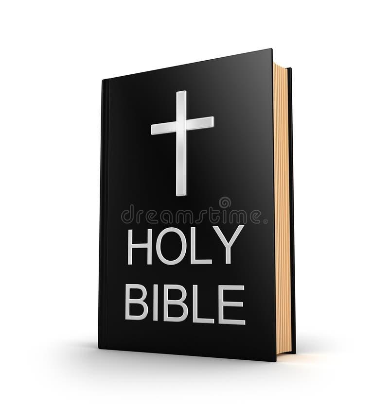 Sainte Bible. Livre avec la croix d'isolement sur le blanc illustration de vecteur