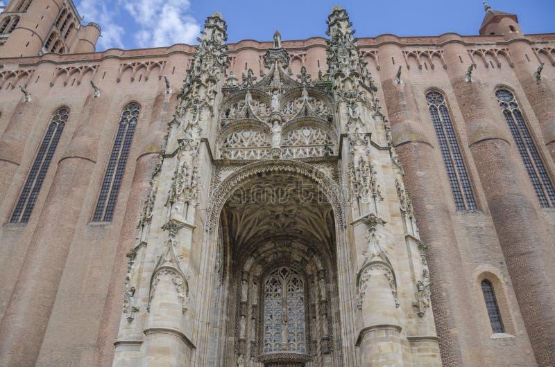 Sainte-Cecile katedra Albi, Francja obrazy stock