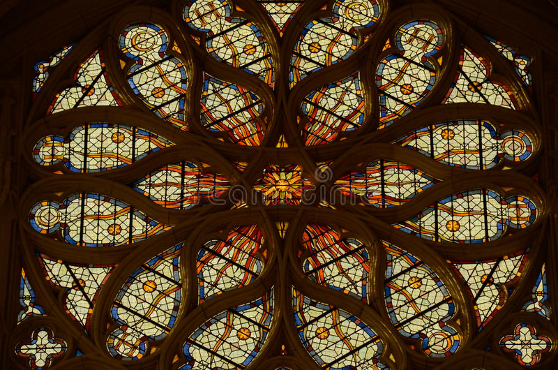 Sainte-Chapelle - Chateau DE Vincennes stock foto