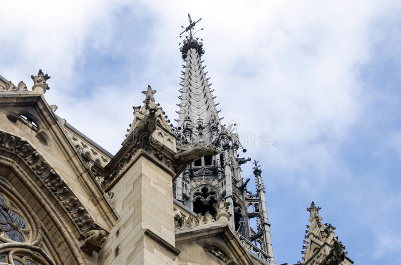 Sainte-Chapelle (de Heilige Kapel) in Parijs stock foto