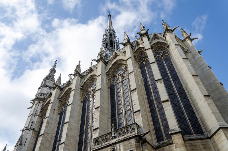Sainte-Chapelle (de Heilige Kapel), Parijs, Frankrijk royalty-vrije stock fotografie