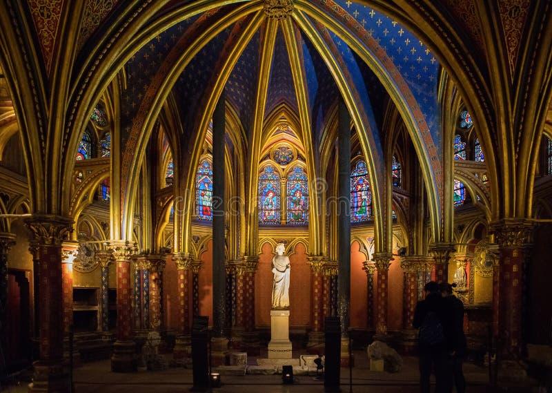 Sainte Chapelle em Paris, Fran?a fotografia de stock royalty free