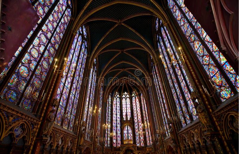 Sainte Chapelle en París Francia fotografía de archivo libre de regalías