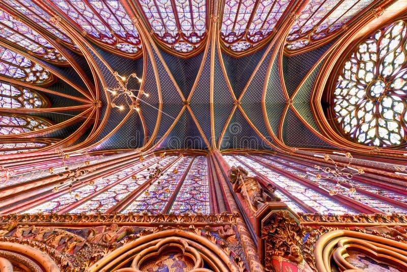 Sainte-Chapelle - Parigi, Francia immagini stock libere da diritti
